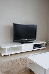 白鏡面テレビボード258